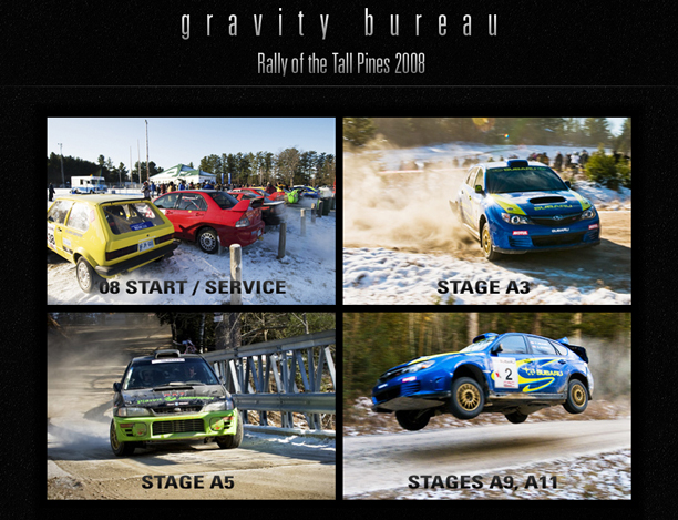 Gravity bureau inc blog rally of the tall pines 2008 for Bureau gravity