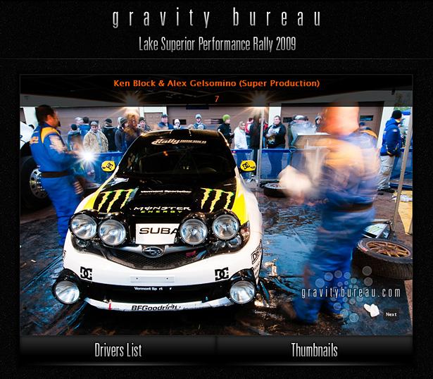 Ken Block & Alex Gelsomino in Gravity Bureau's LSPR'09 Interactive Driver's Gallery
