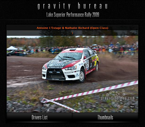 Antoine L'Estage & Nathalie Richard in Gravity Bureau's LSPR'09 Interactive Driver's Gallery