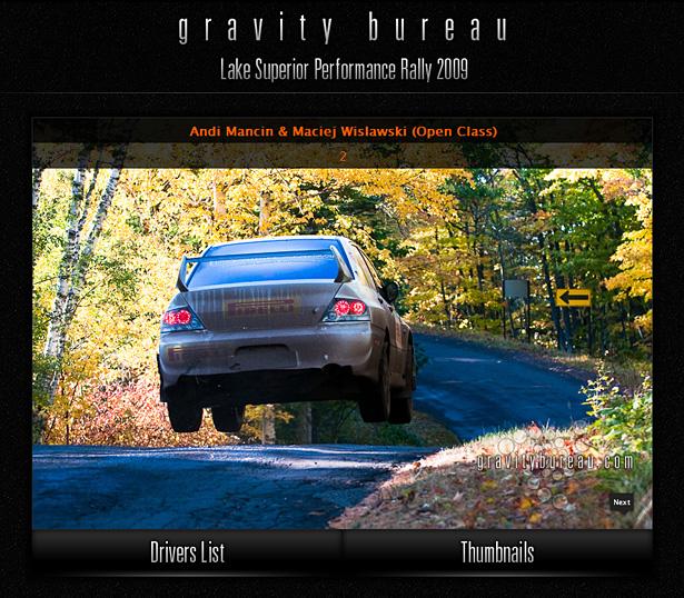 Andi Mancin & Maciej Wislawski in Gravity Bureau's LSPR'09 Interactive Driver's Gallery