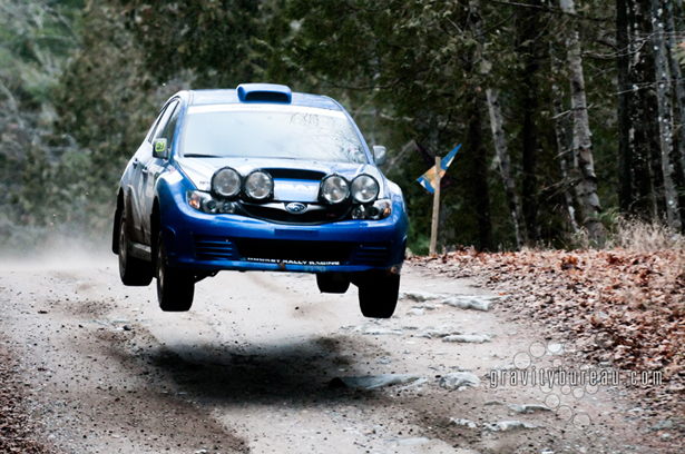 Richard's STI flying off a jump
