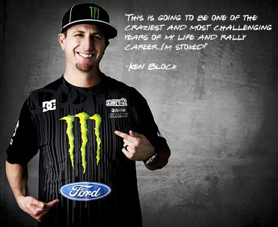 Ken Block to compete in the WRC in a Ford ©Monster Energy World Rally Team