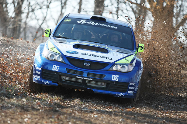 Pastrana & Edstrom kicking up mud with a 2009 Impreza STI - ©Arthur Partyka