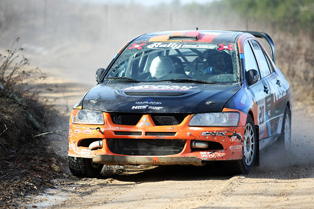"Andrew ""ACP"" Cormie-Picard in his EVO IX rally-car - ©Arthur Partyka"