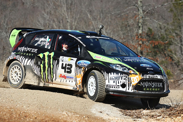 Block's MWRT Ford Fiesta rall-car sideways - ©Arthur Partyka