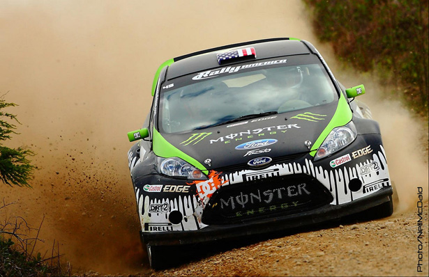 Ken Block sideways in the MWRT Ford Fiesta - ©Neil McDaid