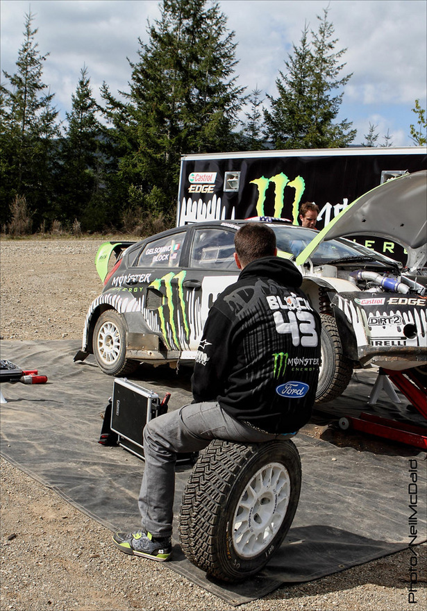 Ken Block disappointed - ©Neil McDaid