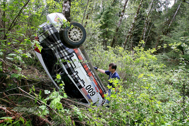 Dillon Van Way crashed his 2002 Ford Focus - ©Neil McDaid