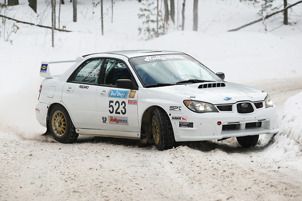 Winners of the 2011 Sno*Drift Rally - Travis Hanson & Terry Hanson - ©Arthur Partyka