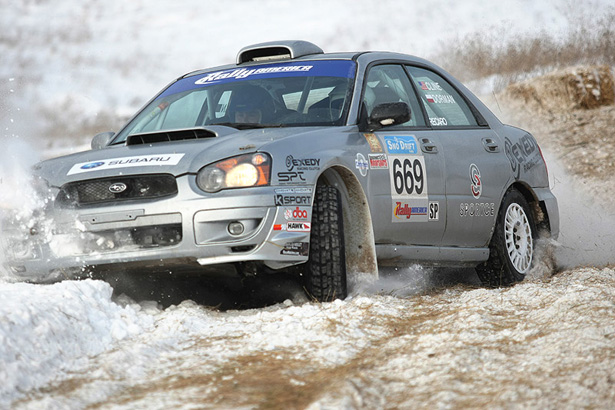 Evan Cline & Grzegorz Dorman in a Super Production 2005 Subaru WRX - ©Arthur Partyka