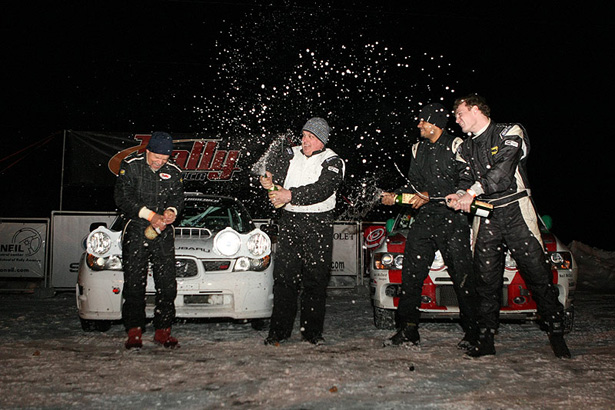 Hansen brothers celebrating their win at the 2011 Sno*Drift - ©Arthur Partyka