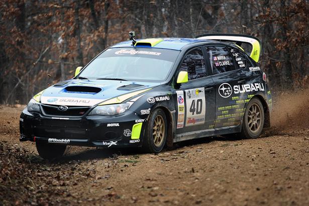Dave Mirra & Marshall Clarke Sideways in a 2011 Subaru Impreza WRX STi - ©Arthur Partyka