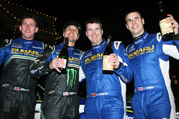 Subaru Rally Team USA: David Higgins, Craig Drew, Dave Mirra and Marshall Clarke - ©Arthur Partyka