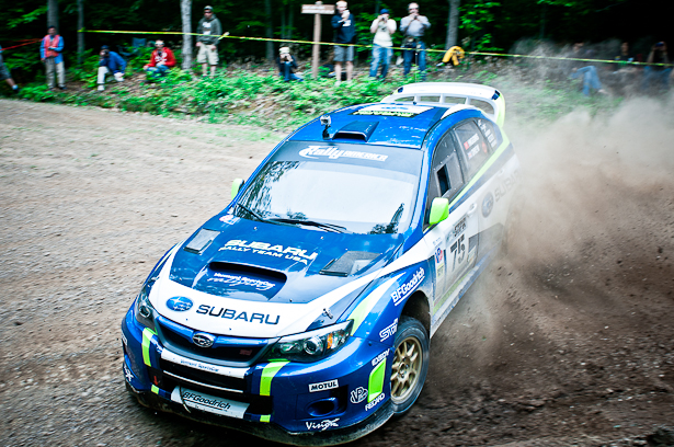 Subaru Rally Team USA's David Higgins & Craig Drew, STPR 2011 winners - ©Peter Calak, Gravity Bureau Inc.