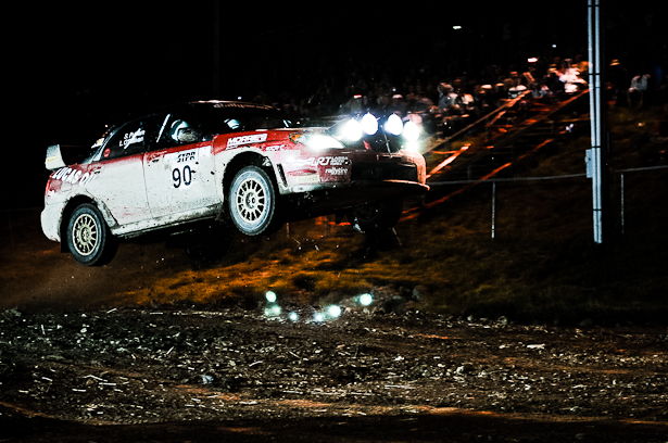 Subaru Impreza jump at Tioga County Fairgrounds Super Special - ©Peter Calak, Gravity Bureau Inc.
