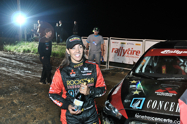 Nathalie Richard at STPR 2011 finish - ©Peter Calak, Gravity Bureau Inc.